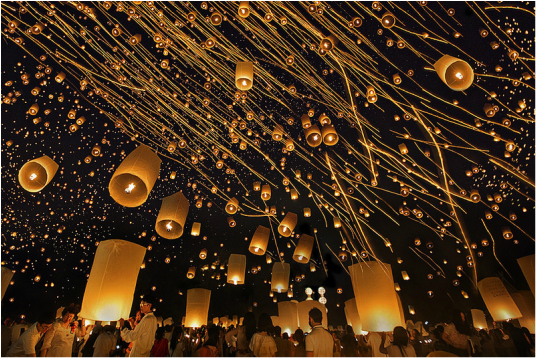 Let VoyJoie travel designers take you here: Yee Peng Festival in Chiang Mai Thailand