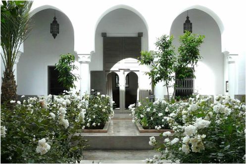 Let VoyJoie travel designers take you here: Private Riad in Marrakech Morroco